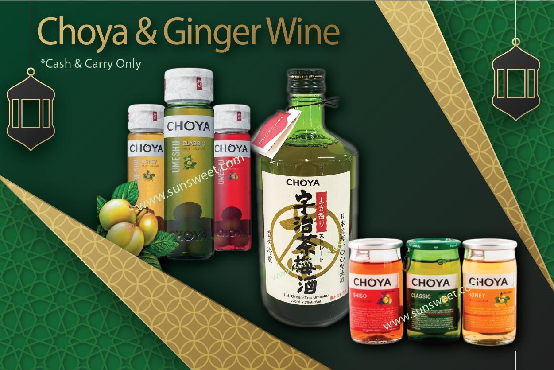 E - Choya & Ginger Wine - Cash & Carry