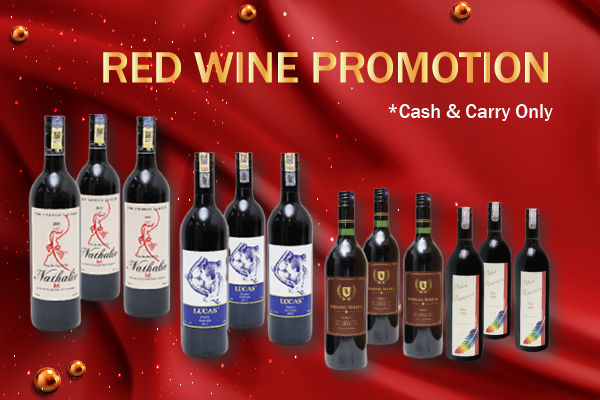 F - Red Wine Promotion - Cash & Carry